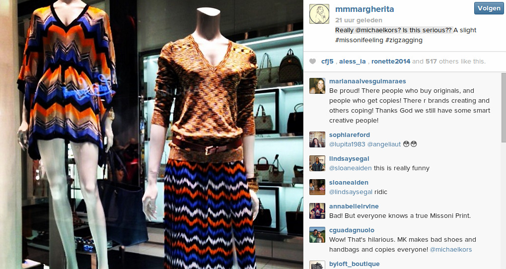 Missoni instagram Michael Kors