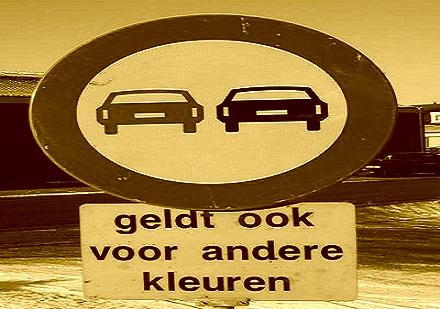 verkeersbord (liggend sepia 2)